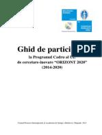 Ghid de Participare Orizont 2020 Manual-RO-H2020-Final