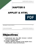TCS2044 Chapter6 Applet & HTML Week11
