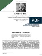 John Henry Newman, L'Antichrist, 1835 - 02 La Religion de l'Antichrist