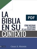 La Biblia en Su Contexto — Craig S. Keener