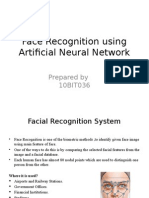 Face Recognition using Artificial Neural Network