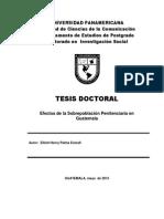 Los Efectos de La Sobrepoblacion Peniteniaria en Guatemala