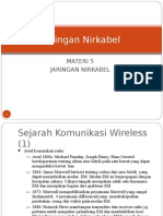 Materi 5 Jaringan Nirkabel Sejarah Dan Jenis Jaringan Nirkabel