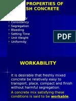 3.3.3 Properties of Fresh Concrete