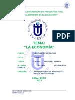 Monografia La Economia v Ciclo