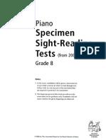 Sight Reading - Specimen Tests G8