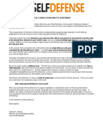 Law of Self Defense Consult Letter