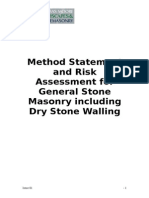 Stone Masonary Method Statement and Risk Assessment