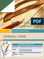 English for Oral Presentation Skills