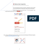Google Sites Reference Sheet