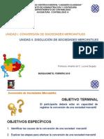 "Conversiã""n y Disoluciã""n de Sociedades Mercantiles"