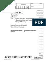 A2-Chemistry Unit 5 Sample Paper
