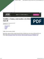 Gudiño y Gama, Convocados a La Selección Mexicana Sub-20 - Futbol - ESPN Deportes