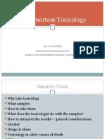 Post Mortem Toxicology