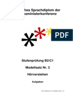 Modellsatz B2-C1 Nr. 3, HV Aufgaben