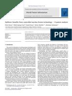 Spillover Benefits From Controlled Nuclear Fusion Technology-A Patent Analysis Peter Bruns a , Minh Quang Tran b , Daniel Kunz  , Heinz Mueller , Christian Soltmann