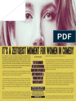 """It's a zeitgeist movement for women in comedy"" by Rosie Mockett"