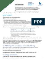 Pap Application 2014 Form Editable 2014