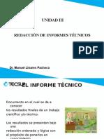 Unidad II y III Informes Técnicos