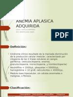 Anemia Aplasica Adquirida