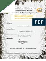 recursos forrajeros, forestales