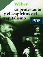 Weber-La Etica Protestante y El Espíritu Del Capitalismo