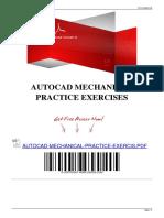 Autocad Practice Exercises