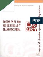 Poetas en El 2000 Modernidad y Transvanguardia