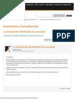 Español_ La Instalación de Moodle No Concluyó
