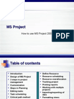 How to Use MS Project 2003