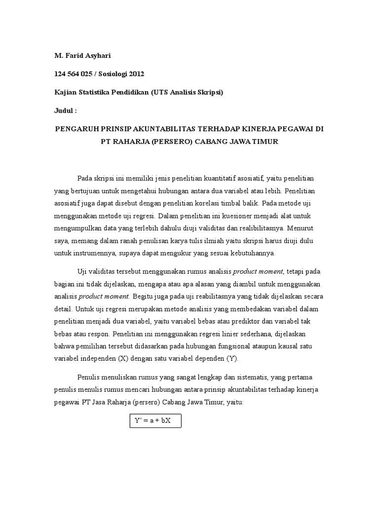 Contoh Review Skripsi Kuantitatif Pai Pejuang Skripsi