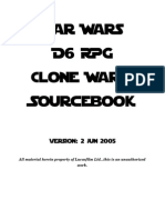Star Wars D6 - Clone Wars Sourcebook