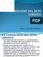 Formalidades  Del Acto Juridico
