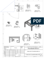 Mesa de Coordenadas Desenho Mecânico