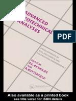 Advanced Geotecnical Analysis