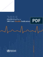 2015 Global Reference List of 100 Core Health Indicators