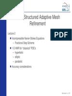 Block structured mesh refinement