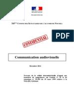 Rapport Audiovisuelle de Nouvelle-Calédonie