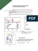 Lab1 Reducerea Analitica Si Grafica Al Unui Sistem de Forte Coplanare