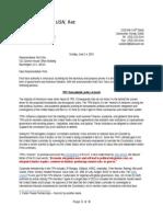 Letter to Rep. Yoho Regarding Trade Promotional Authority
