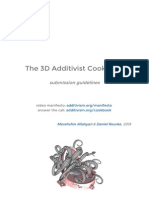 The 3D Additivist Cookbook Submission Guidelines