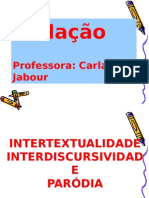 Intertextualidade e Paródia 1