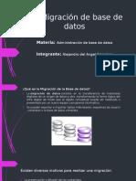 Migracion de base de datos