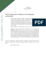 Sextic Anharmonic Oscillators and Orthogonal Polynomials