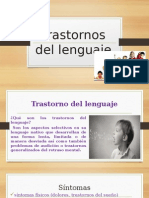 Expocicion sobre la planeacion de trastornos de lenguaje