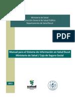 Manual Sistema Informacion Salud Bucal PANAMA