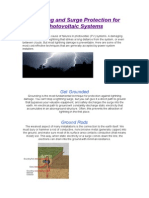 Lightning and Surge Protection for Photovoltaic Systems