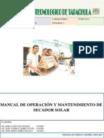 Trabajo Manual Secador Solar
