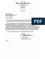 Gov. Rick Scott Reply April 13, 2011 to Neil Gillespie