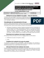 Plano de Gerenciamento Do Escopo (Scope Management Plan)
